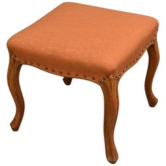Elegant Victorian Stool in Walnut