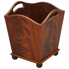 Rare Edwardian Waste Paper Bin, Plant Stand