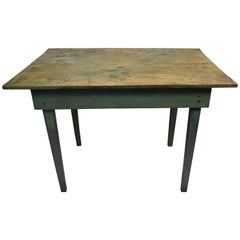 Mid-1800s Table of Old-Growth Pine for Hallway, Entranceway, Room Corner