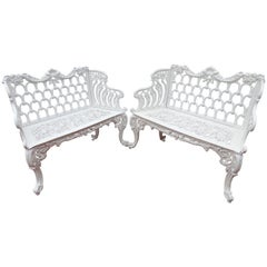 Cast Iron Gothic White House Garden Benches