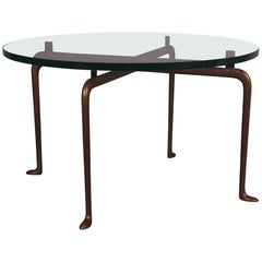 Glass and Bronze Coffee Table