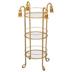 Unusual 3-Tier Gilded Stand, Cake Stand