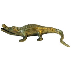 Brass Crocodile or Alligator Sculpture
