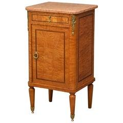 Continental Figured Ash Bedside Cabinet