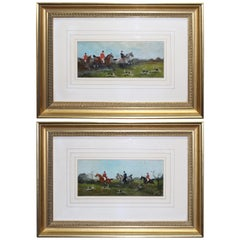 Pair of Late Victorian Fox Hunting Paintings