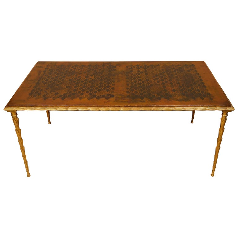 Fine and Rare Gilt Bronze Coffee Table by Maison Baguès