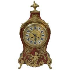 French Belle Époque Louis XV Style Boulle Mantel Clock