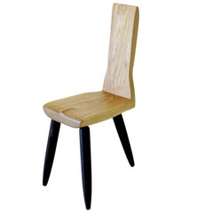 'Zara' Chair, 3-Legged Chair, Handmade in Solid Wood by Gustavo Dias