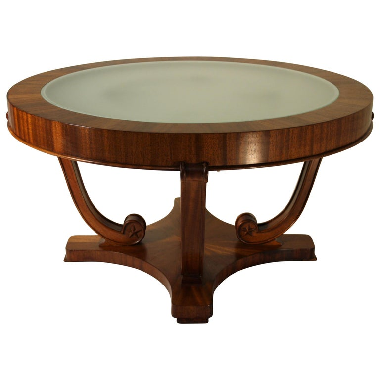 1930's Olivewood Art Deco Coffee Table At 1stdibs