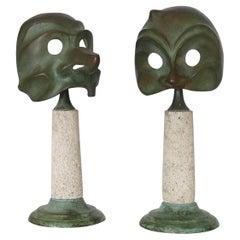 Mid-Century Seguso Vetri D'arte Table Lamps by Elin Raaberg Nielsen