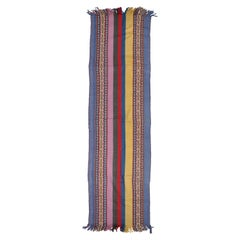 Vintage Multi-Color Ethnic Blanket Table Runner Wall Hanging Throw from Peru
