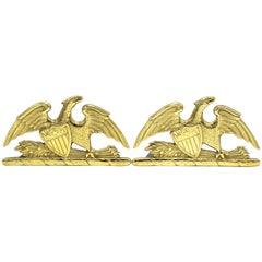 1952 Brass Spread Eagle Bookends by Virginia Metalcrafters
