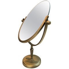 Brass Vanity Mirror by Charles Hollis Jones