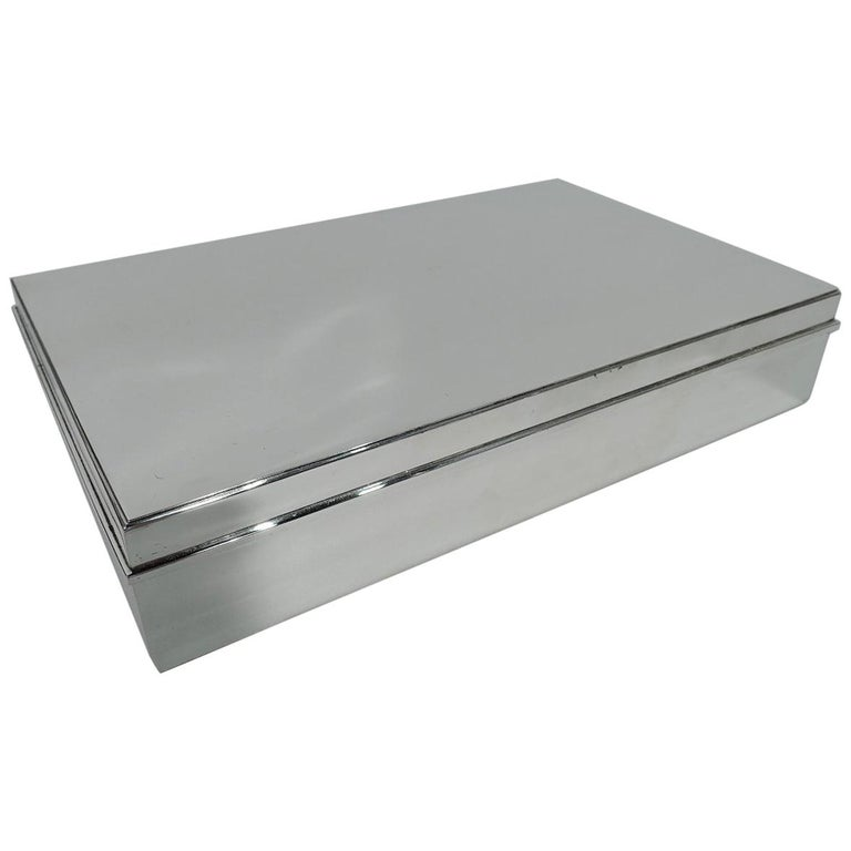 Large and Heavy Sterling Silver Desk Box by Tiffany & Co.