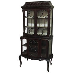 19th Century English Curio Cabinet