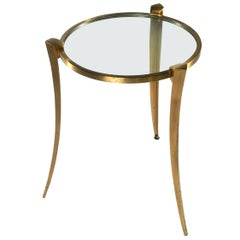 Maxime Old Bronze and Glass Table