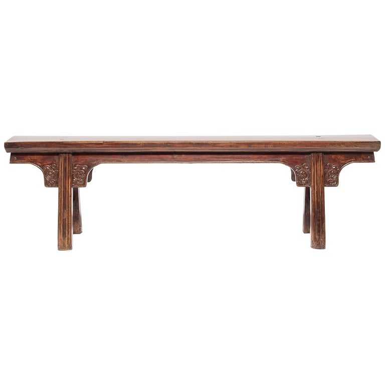 19th Century Chinese Eight Dragon Bench