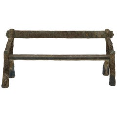 French Faux Bois Concrete Bench