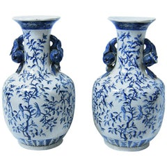 19th Century Pair of Large Staffordshire Ironstone Floor Vases