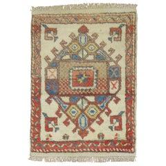 Ivory Vintage Turkish Anatolian Rug