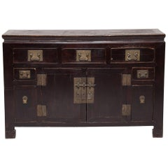 19th Century Chinese Two-Door Lacquered Sideboard