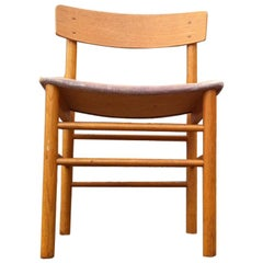 Vintage Danish Oak Dining Chairs in the Manner of Borge Mogensen J39, 1970s