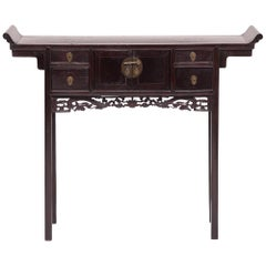 Petite Console Table with Dancing Dragon Apron