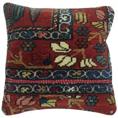 Persian Bakhtiari Border Rug Pillow