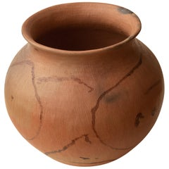 Mexican Rustic Natural Clay Folk Art Handmade Ceramic Vessel Terracotta