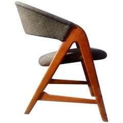 Rare Danish Saw-Bench Easy Chair in Oak by Arne Wahl Iversen for Sorø, 1957