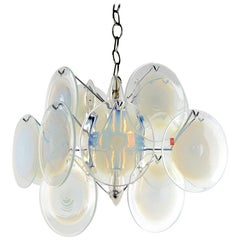 Murano Glass Disk Chandelier by Gino Vistosi