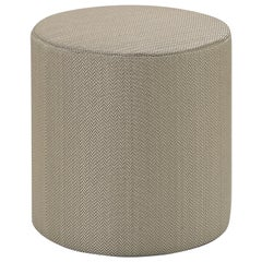 Missoni Home Ribe Tall Cylinder Pouf in Solid Tan