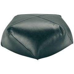 Missoni Home Plato Diamante Leather Pouf in Forest Green