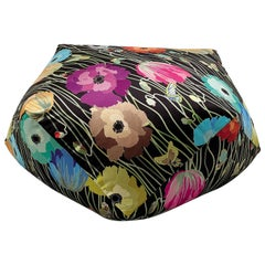 Missoni Home Vancouver Diamante Pouf in Black with Floral Pattern