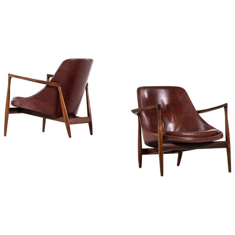 Ib Kofod-Larsen Elizabeth Easy Chairs by Christensen & Larsen in Denmark For Sale