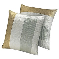 Missoni Home Kaduna Cushion Set in Multi-Color & Gold w/ Textured Solid Stripes