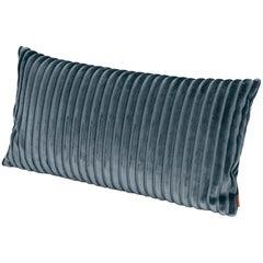 Missoni Home Coomba Long Cotton Cushion in Blue Striped Velvet