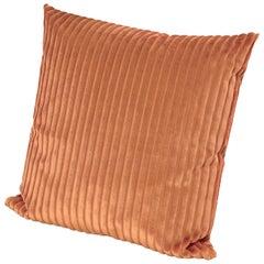 Missoni Home Coomba Cushion in Orange Striped Velvet