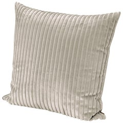 Missoni Home Coomba Cushion with Ivory Striped Velvet