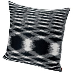 Missoni Home Svezia Cushion in Black and White Flame Print