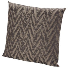 Missoni Home Reunion Cushion in Brown and Beige with Chevron Print