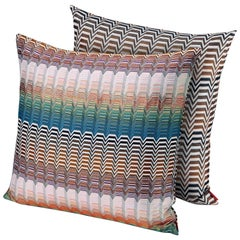 Missoni Home Santafe Seattle Cushion Set in Multi-Color with Greek Key Pattern