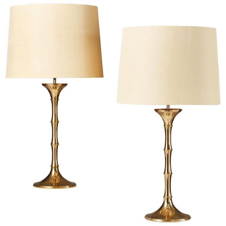 Pair of Table Lamps 'Bamboo MI1' Designed by Ingo Maurer, Germany, 1968 For Sale
