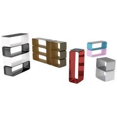 Contemporary Brera Bookshelf in Aluminium by Altreforme