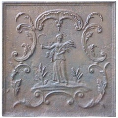Antique French Neoclassical 'Ceres' Fireback