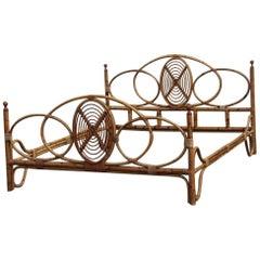 Vittorio Bonacina Bamboo Bed Mid-Century Modern Italian Design 1950