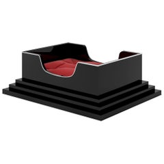 Small Art Deco Design Dog Bed with Piano Lacquer