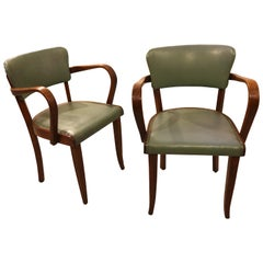 Pair of French Oak Side Chairs