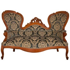 Neo-Rococo Walnut Sofa, Circa 1920