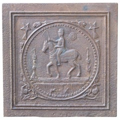 19th Century French Art Nouveau 'Horse' Fireback